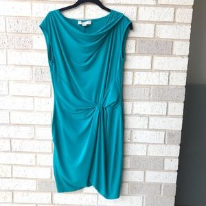 Michael by Michael Kors Teal Ruched Draped Dress